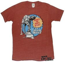 Star Wars Where The Party AT-AT Tri-Blend Junk Food Adult T Shirt S-XL