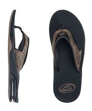 REEF LEATHER FANNING / BROWN PLAID MENS SANDALS FLIP-FLOPS BRAND NEW