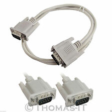 DB9 9 Pin RS232 Male to Male Serial Data Tranfer Gender Changer Converter Cable