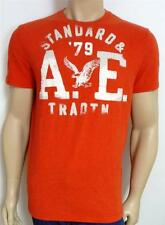 American Eagle Outfitters AEO '79 AE Tee Mens Red Flocked T-Shirt New NWT