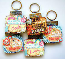 PERSONALISED PERSONALITY KEYRING BOOK GIRLS NAMES INITIALS S-W GIRLIE GIFT NEW