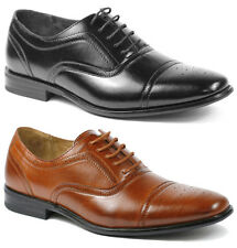 Delli Aldo Mens Lace Up Cap Toe Oxford Dress Shoes w/ Leather lining M-19006