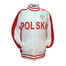 *NEW* XL White POLSKA Jacket with Embroidered Eagle **Minor Defects**