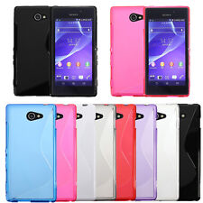 S Line Soft TPU Gel Silicone Back Case Cover Skin For Sony Xperia M2