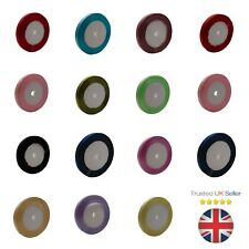 1 x 25 Yard Roll of 10mm Satin Ribbon Mixed Colours Scrapbooking PICK COLOUR  ML