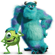 """5-8"""" DISNEY MONSTERS INC SULLEY MIKE CHARACTER WALL SAFE STICKER  BORDER CUT OUT"""