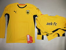 Training Shirt Ls Aek Athen 08/09 Orig. Puma Gr S L XL New Yellow