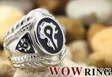 Titanium Steel World of Warcraft Horde Ring Size 7~11