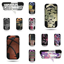 Heavy Duty Dual Layer Hybrid Armor Design Cover For LG Optimus L90 Phone Case