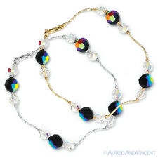 Genuine Swarovski Crystal Element Beaded Bracelet in 14k Yellow or White Gold