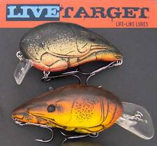 Koppers Live Target Crawfish. Crankbait lures. Shallow-diving.