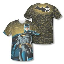 Batman 75th Year Anniversary Glow All Over Sublimation Adult Shirt S-3XL