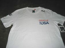 Puma Team USA Americas Cup Oracle fundamentals t shirt SMALL LARGE NWT FREE SHIP