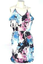 Roxy Blue & Multicolored Floral Halter Sundress Sun Dress Womans NWT