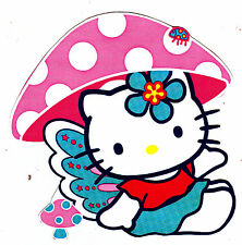 "4.5-8"" HELLO KITTY BUTTERFLY CHARACTER WALL SAFE STICKER BORDER CUT OUT"