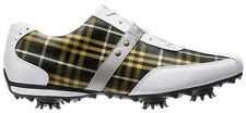 Ladies LoPro Golf Shoes CLOSEOUT White/Golf Plaid 97166 New Womens