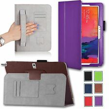 For Samsung Galaxy NOTE Pro 12.2 Smart Case Stand PU Leather Cover w/ Hand Strap