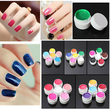 6 Colours 8ml Pro Nail Art Tips Builder Solid Pure UV Gel Set Extension Manicure