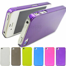 6 colors Matte Hard Skin Cover Case Phone Accessories For Apple iPhone 4 4G 4S