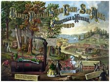 4483.Blandys portable steam engine and saw mills.POSTER.decor Home Office art