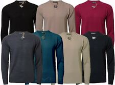 Mens Jumper Soft Fashion V-Neck Sweater Knitwear Pullover Kensington 1A2821