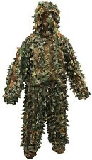 Feuille 3D NITEHAWK Ghillie costume avec masque woodland camo / camouflage chasse cerf