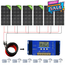 100W 200W 300W 400W 500W 600Watt PV Solar Panel 12Volt RV Boat trailer OFF GRID