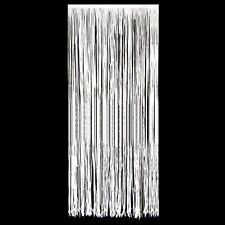 White  Foil Door Curtain / Curtains / shimmer  3 foot x 8 foot Choose quantity