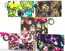 Vera Bradley Quick Swipe ID Wallet Key Ring Choose Print New