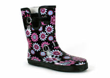 Wellingtons Wellies for Women Wide Calf Black Size 5-10 New
