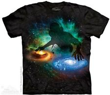 The Mountain Galaxy DJ Universe Space Turn Tables Mens T-Shirt S,M,L,XL,2XL,3XL