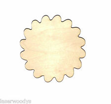 Flower Unfinished Flat Wood Shape Cut Out Variety Sizes FS4726 Laser Crafts