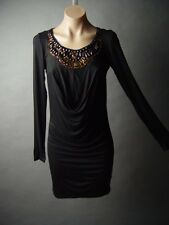 Sale Egyptian Grecian Goddess Beaded Bib Collar Draped Jersey 03 mv Dress S M L