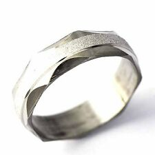 White Gold Filled Mens Unisex sandy  Ring Size 7,8,9,10,11#  A1549 - A1553