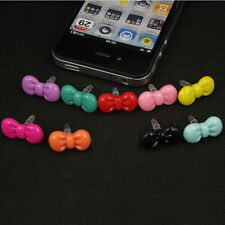 Bow 3.5mm Earphone Ear Cap Dock Anti Dust Plug for iPhone 4 4S 5 5S 5C Samsung