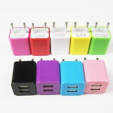 1pc 2.1A 1A Dual Ports USB Wall Home AC Charger EU Adapter For Phone And Tablet