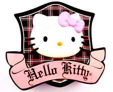 "5.5-8.5"" LARGE HELLO KITTY PLAID WALL STICKER GLOSSY BORDER CHARACTER CUT OUT"