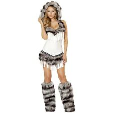 Sexy Eskimo Costume Adult Womens Indian Girl Halloween Fancy Dress
