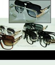 Slim Sleek Evidence Inspired Gazelle Style Sun Glasses _ Fancy Arm Metal Accents