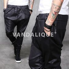 XQUARE23 Drop Crotch Slim Stretch Leather Pants Kanye A$AP FABRIXQUARE p260 #5