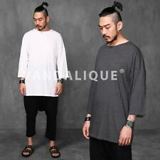 Samurai Drop Shoulder Relaxed fit Crop Sleeve T Shirt Kanye FABRIXQUARE t907 #2