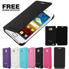 ULTRA THIN PU LEATHER FLIP CASE COVER FOR SAMSUNG GALAXY S2 II I9100 + FREE FILM