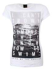 Bring Me The Horizon Demons Ladies BMTH White T-Shirt - NEW & OFFICIAL