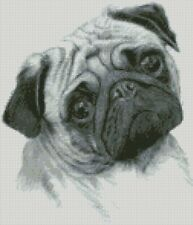 Cross Stitch Chart - Kit Pug Dog