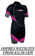Osprey Childs Kids Wetsuit Shorty Shortie Blk/Pink NEW