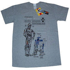 Star Wars C-3PO R2-D2 Droid Robot Haynes Manual OFFICIAL Unisex Gift T-Shirt