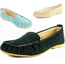 Womens Moccasin Loafers Boat Shoes Ballet Flats Casual Comfort Leather Insoles