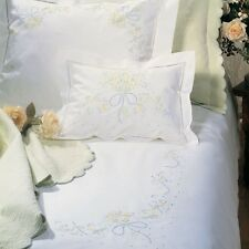 CHARMING SFERRA SWEET WILLIAM HAND-EMBROIDERED PILLOWCASES