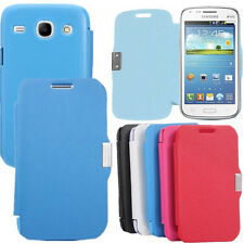 Flip Slim Leather Magnetic Hard Case Cover For Samsung Galaxy Core i8260 i8262