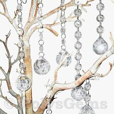 5 X ACRYLIC CRYSTAL SPHERE QUALITY GARLANDS - WEDDING - CHRISTMAS DECORATIONS